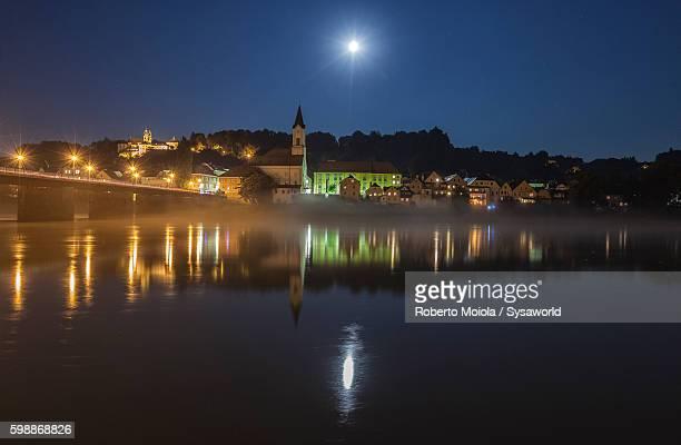 Moonlight Passau Bavaria Germany