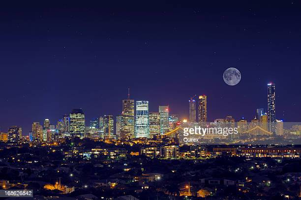 Moonlit Brisbane