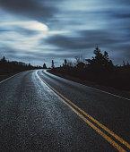 Moonlit Coastal Road