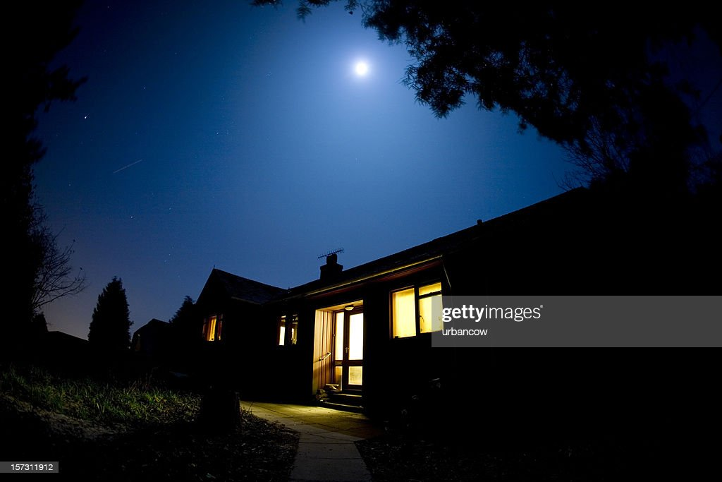 Moonlit house : Stock Photo
