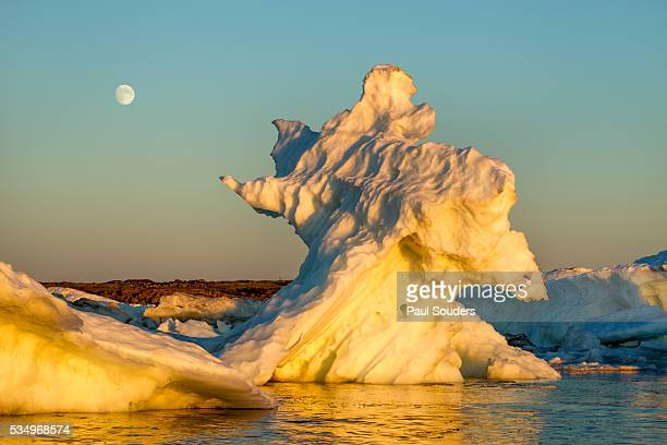 Moonrise above Sea Ice, Hudson Bay, Canada