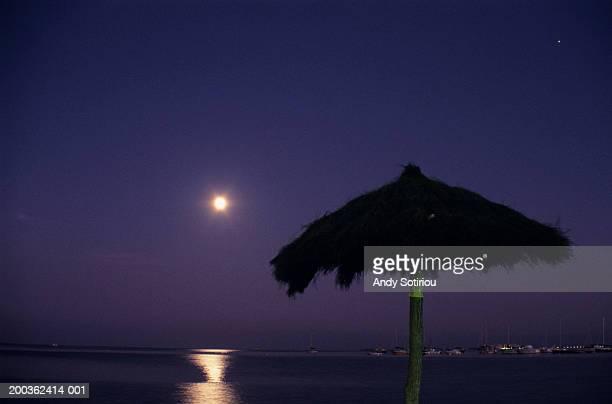Moonrise and Venus, San Javier, Spain