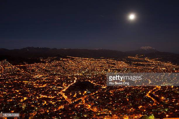 Moonrise over La Paz