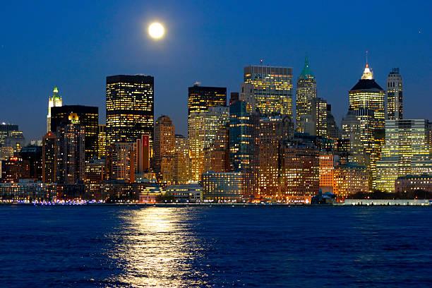 Moonrise Over Manhattan Island