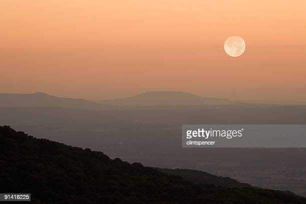moonrise over mountains - ozark mountains stock pictures, royalty-free photos & images