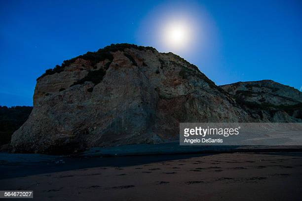 Moonrise over Point Reyes