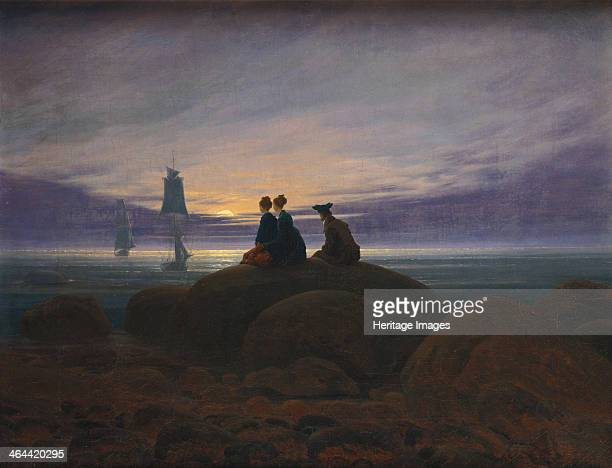 Moonrise over the Sea, 1822. Found in the collection of the Staatliche Museen, Berlin.