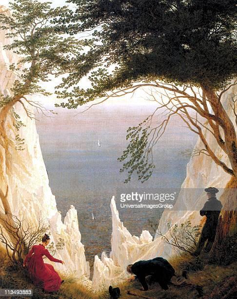 Moonrise Over the Sea , by Caspar David Friedrich , German Romantic landscape painter