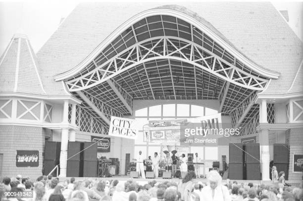 Moore By Four band at the Lake Harriet Pavilion for the Minnesota Music Awards in Minneapolis Minnesota in 1988