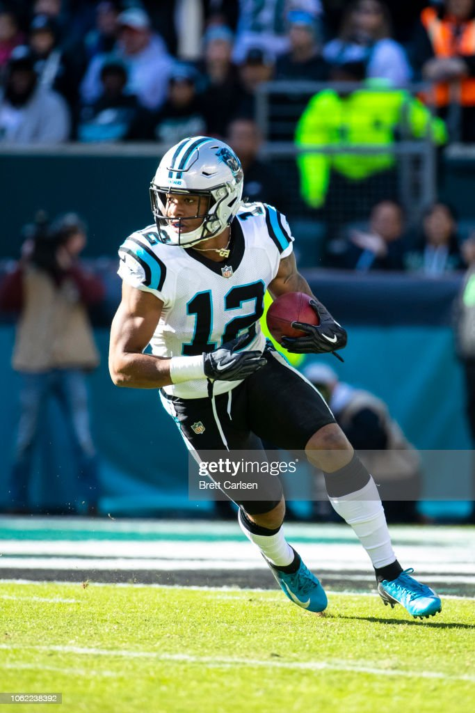 16dad4746d0 DJ Moore of the Carolina Panthers fields a kick during the third ...