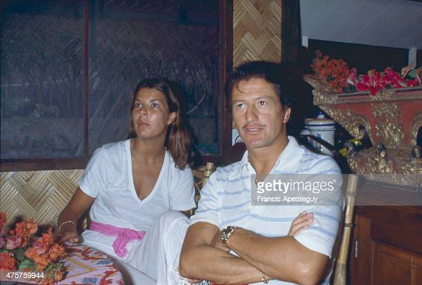 Moorea, French Polynesia 22 July 1978 Princess Caroline of Monaco with her first husband Philippe Junot during their honeymoon in French Polynesia in...