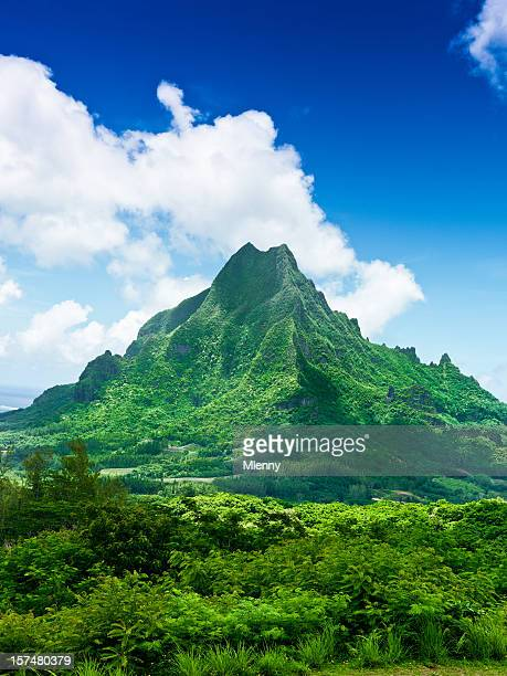 moorea island roto nui volcanic mountain french polynesia - tahiti stock pictures, royalty-free photos & images