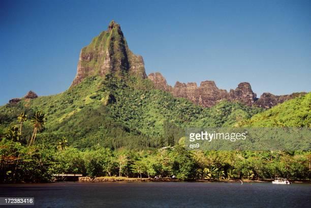 Moorea Tahiti Tropical ocean beach front mountain