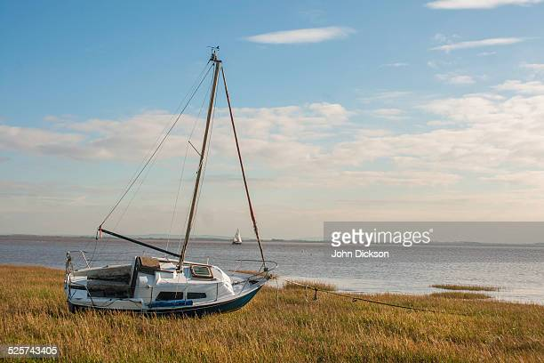 moored boat - dunes arena stock pictures, royalty-free photos & images