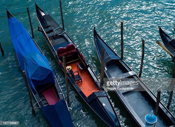Moored gondalas, Venice
