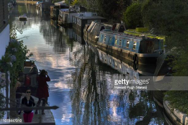 Moored Longboats, Photography, Contemplation & Reflections From The Grand Union Canal