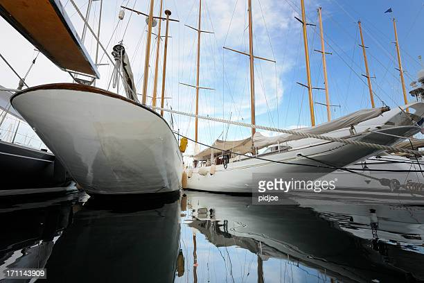 moored sailboats in marina of Cannes France XXXL image