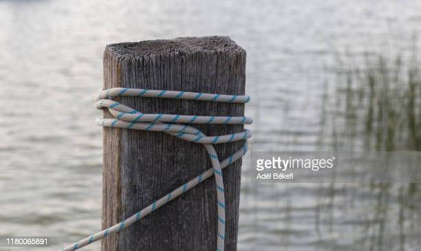 mooring bollard - moored stock pictures, royalty-free photos & images