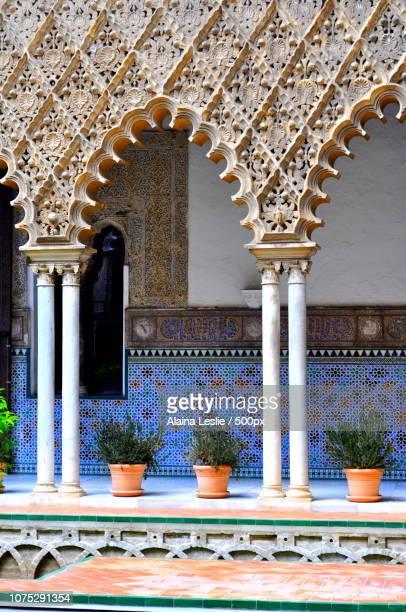 Moorish architecture at the Alcazar in Seville Spa