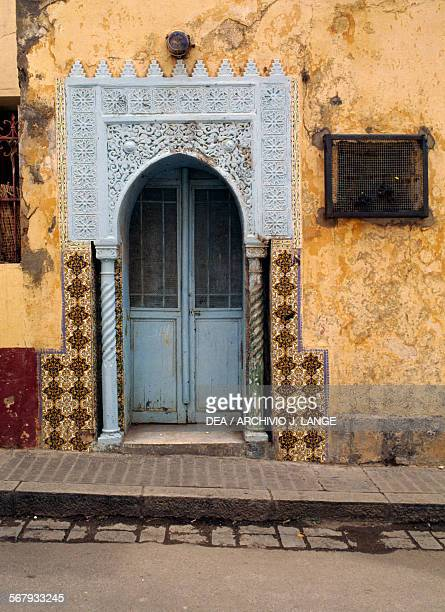 Moorish portal of an old house in the Kasbah of Algiers Algeria