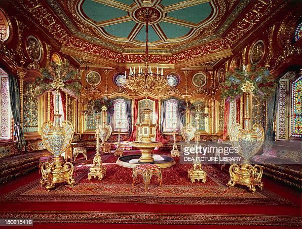 Moorish salon in Ludwig II's royal chateau Schachen Bavaria Germany 19th century