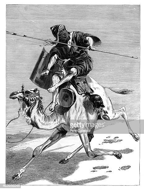 'A Moorish warrior' c1890 An engraving from Robert Brown's The Countries of the World published by Cassell