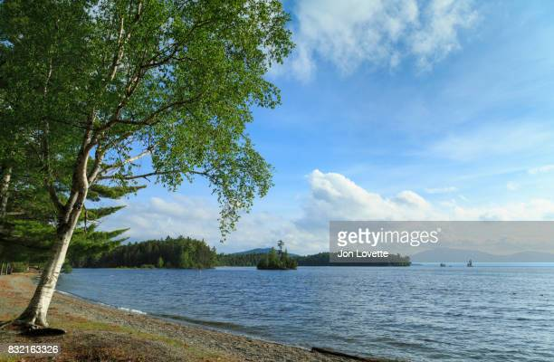 moosehead lake near  greenville maine - moosehead lake stock photos and pictures