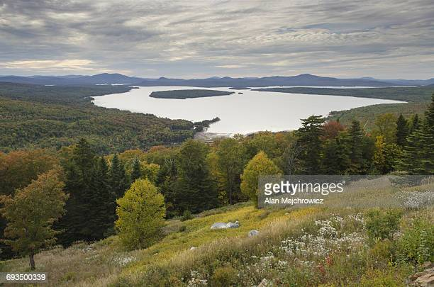 mooselookmeguntic lake maine - mooselookmeguntic lake stock photos and pictures