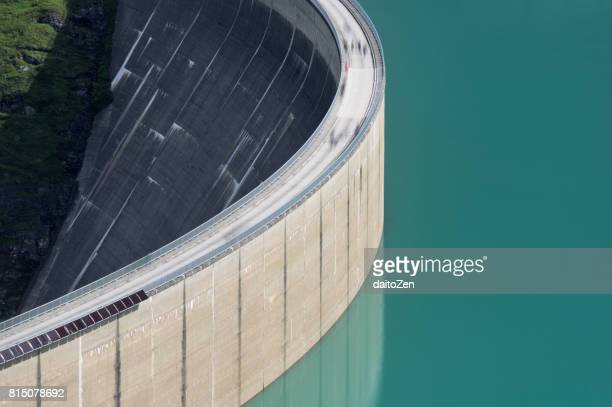 mooserboden water reservoir and concrete dam, kaprun, salzburger land, austria - dam stock pictures, royalty-free photos & images