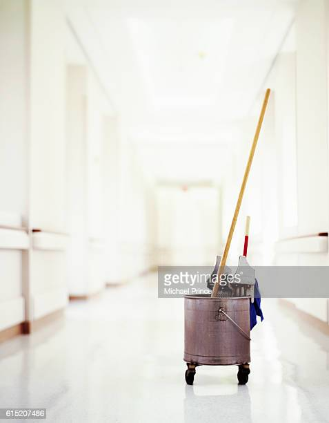 Mop and Pail in Corridor