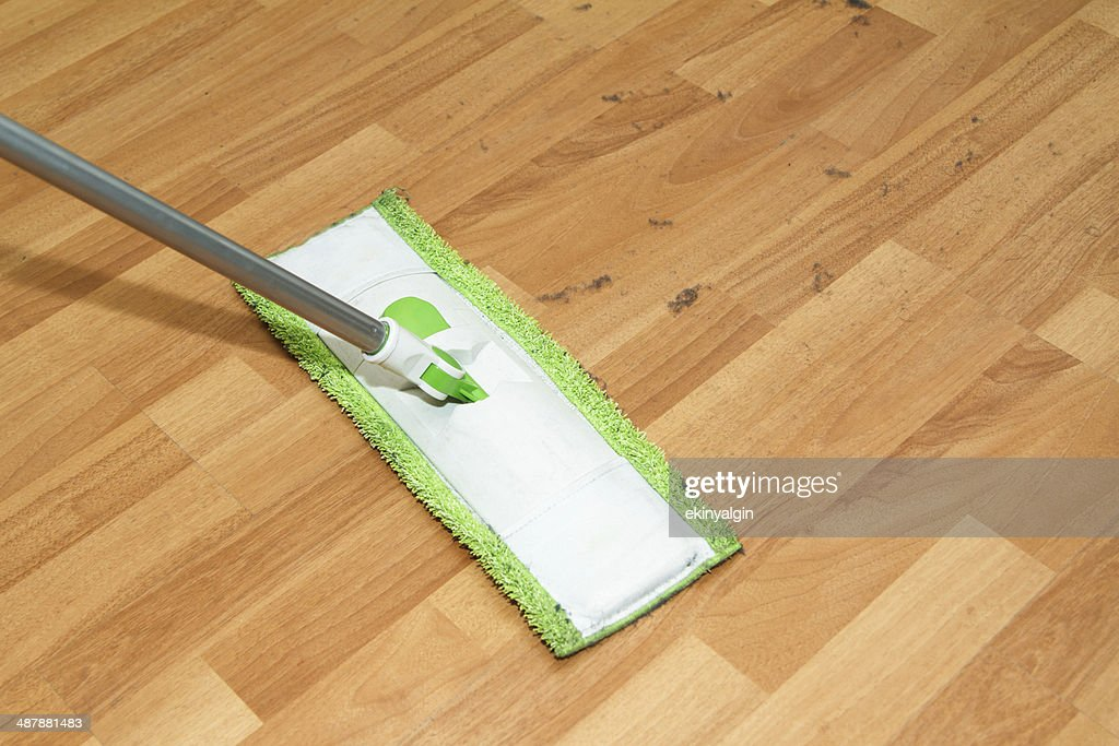 Mop Cleaning Parquet : Stock Photo