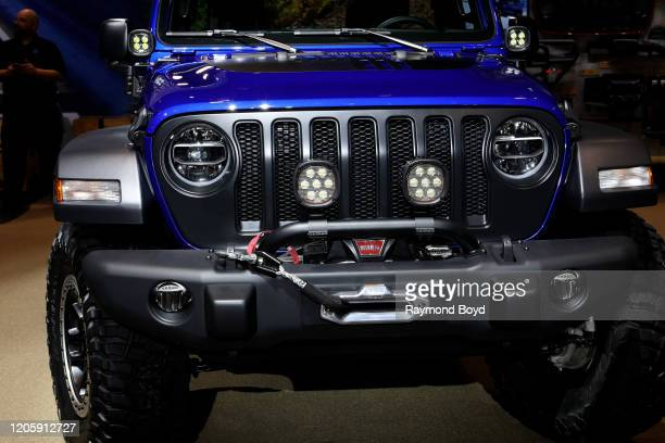 """Mopar-Modified Jeep Wrangler is on display at the 112th Annual Chicago Auto Show at McCormick Place in Chicago, Illinois on February 7, 2020. """"n"""