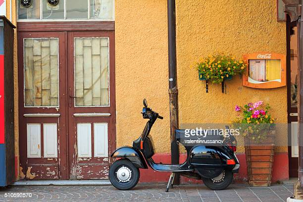 Moped in Cortina d'Ampezzo-italy