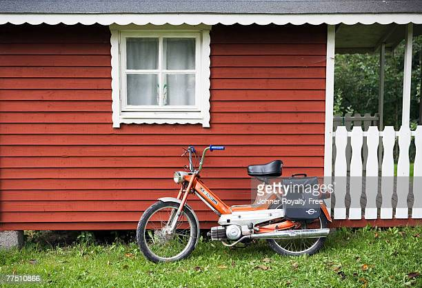 a moped sweden. - moped stock photos and pictures