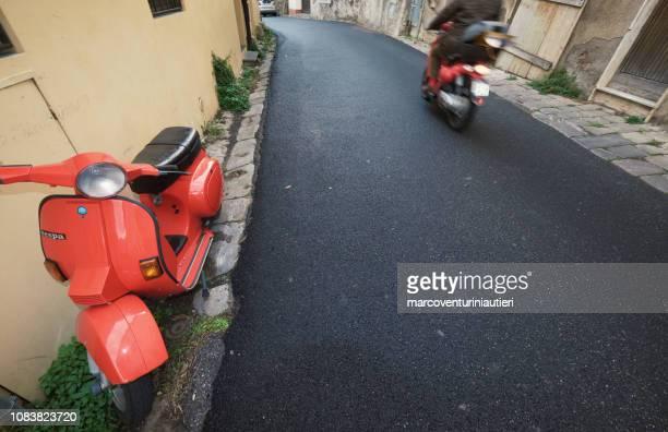 mopeds in Italian street