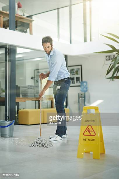 Mopping up the floors