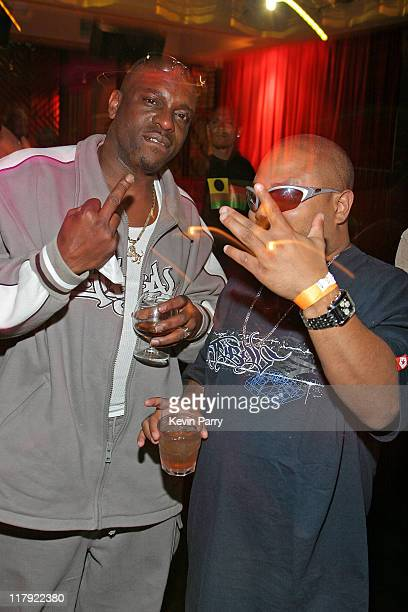 Mopreme Shakur and Tiny Tune during And1 Mixtape Tour Volume 9 Premiere After Party at White Orchid in Hollywood California United States