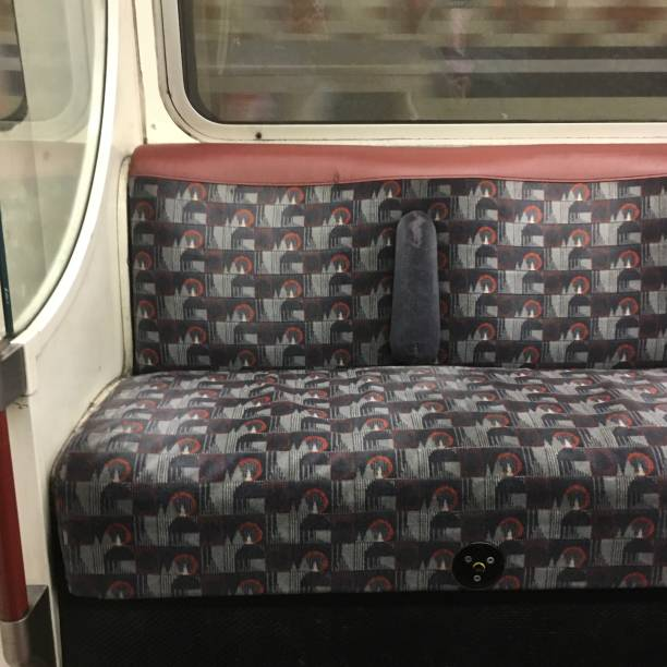 Moquette fabric Landmark new colourway for Bakerloo line London Underground redesign of original seat fabric shows landmarks of London
