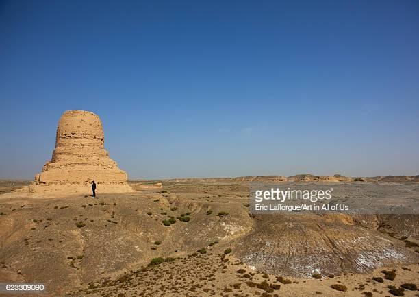 Mor buddhist stupa, Kashgar, Xinjiang, China, Xinjiang Uyghur Autonomous Region, China on September 24, 2012 in Kashgar, China.