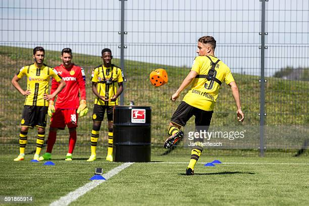 Mor Emre in action during the DFL Media Day on August 2016 in Dortmund Germany