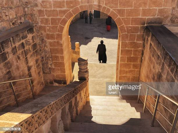 mor gabriel church, midyat, turkey - historical geopolitical location stock photos and pictures