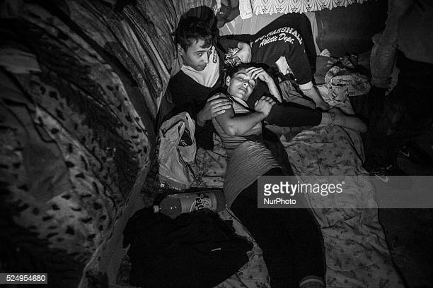Mora 19 who is pregnant with her second child with her boyfriend They are living with other youth in Bucharest's vast system of underground canals...