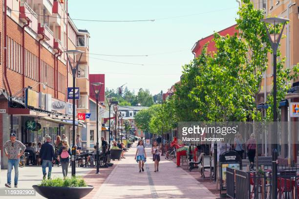 mora town center - pedestrian zone stock pictures, royalty-free photos & images