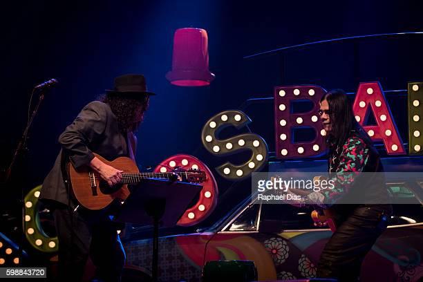 Moraes Moreira and Pepeu Gomes from Novos Baianos perform at Metropolitan on September 2, 2016 in Rio de Janeiro, Brazil.