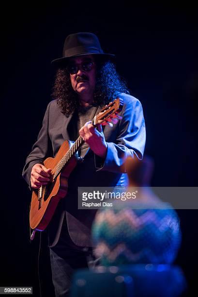 Moraes Moreira from Novos Baianos perform at Metropolitan on September 2, 2016 in Rio de Janeiro, Brazil.