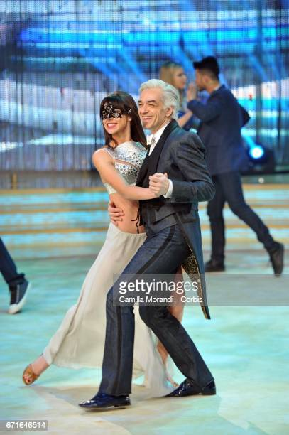 Moragn attends Ballando Con Le Stelle Tv Show on April 22 2017 in Rome Italy