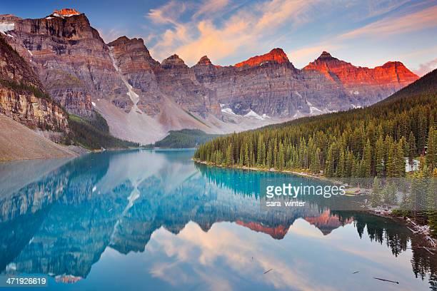 Moraine Lake at sunrise, Banff National Park, Canada