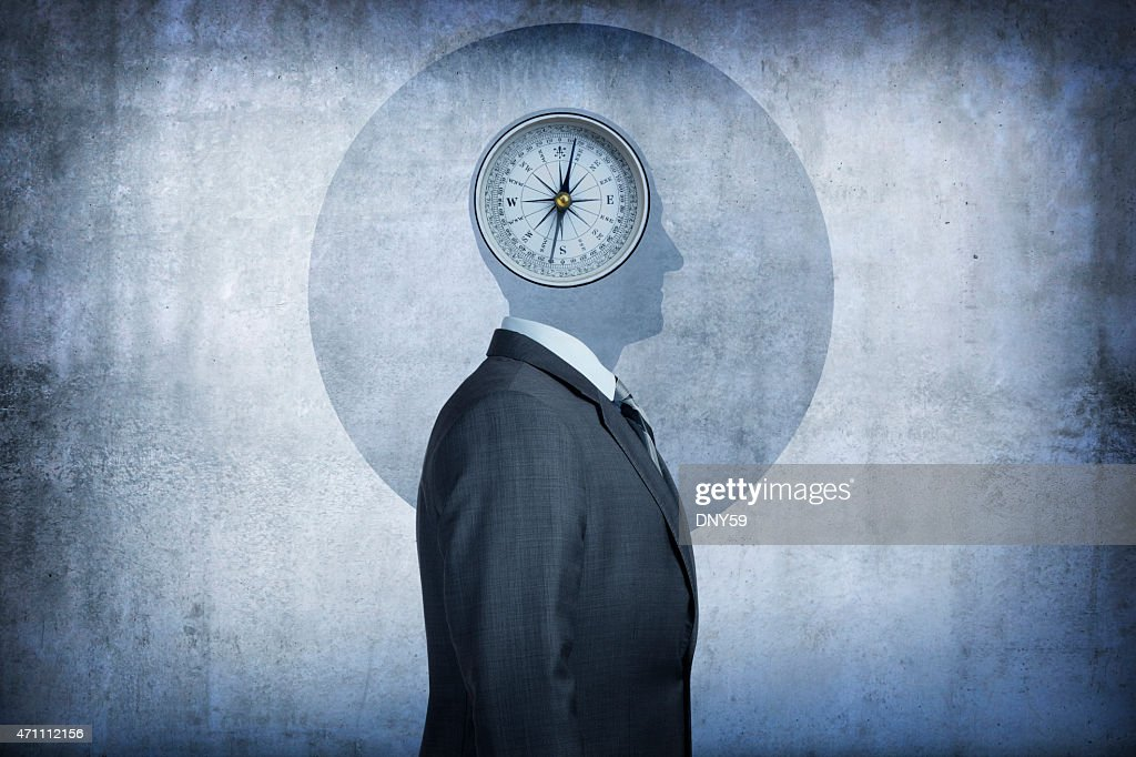 Moral compass concept : Stock Photo
