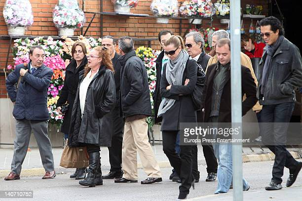 Morales' family attend the funeral for Carmen Barretto Valdes who died at 97 years old at La Almudena Graveyard on March 4 2012 in Madrid Spain...