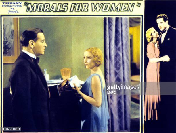 Morals For Women lobbycard inset lr Conway Tearle Bessie Love right border Bessie Love Conway Tearle on lobbycard 1931